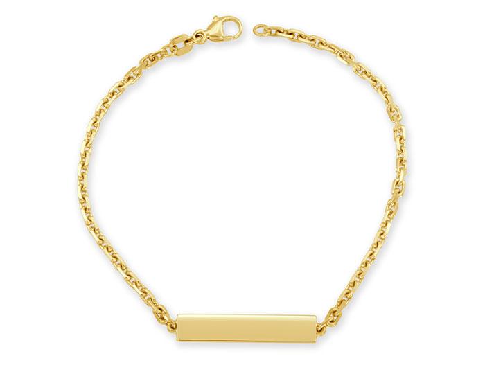 ID bracelet in 14k yellow gold.