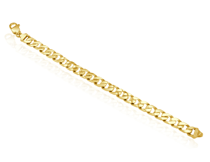 Men's bracelet in 14k yellow gold.
