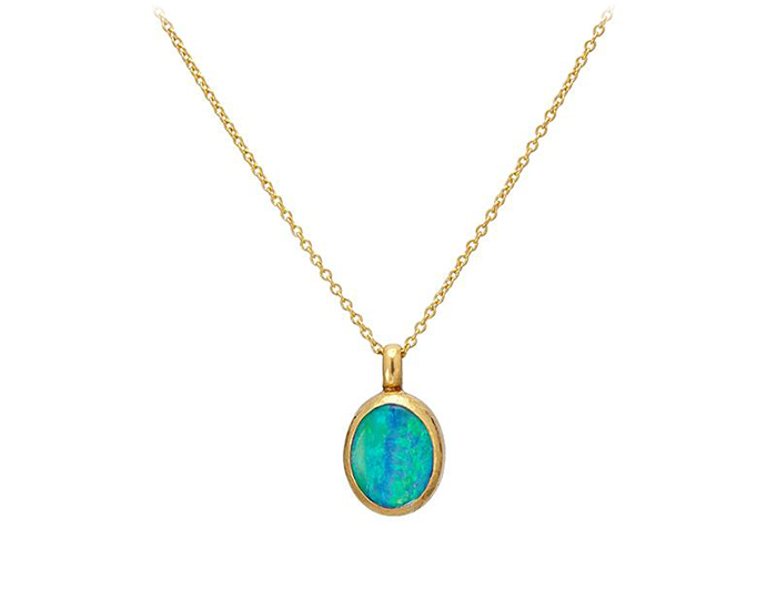 Gurhan Amulet Collection opal necklace in 24k yellow gold.