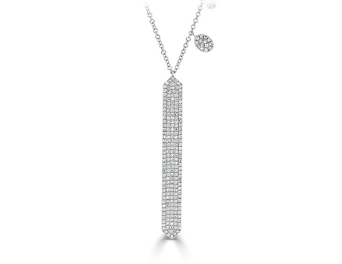 Meira T single cut diamond necklace in 18k white gold.