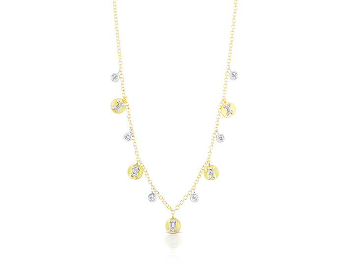 Meira T diamond necklace in 18k yellow gold.
