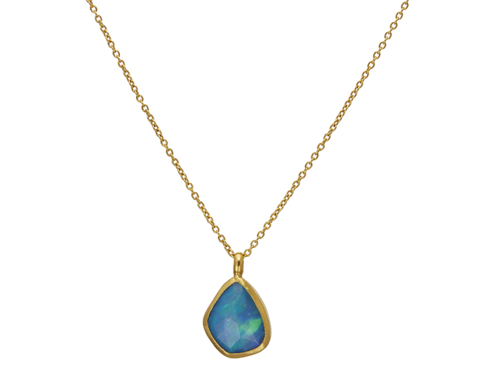 Gurhan opal necklace in 24k and 22k yellow gold.