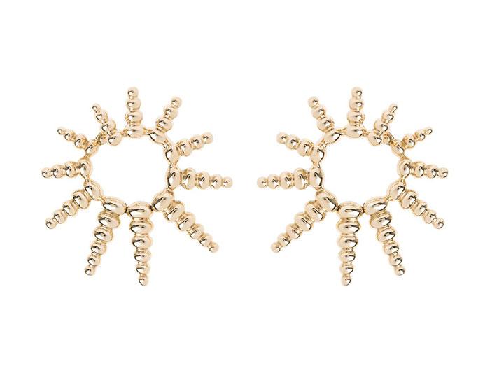 Nikos Koulis Spectrum collection 18k yellow gold earrings.