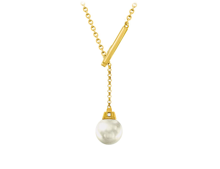 South Sea pearl pendant in 18k yellow gold.
