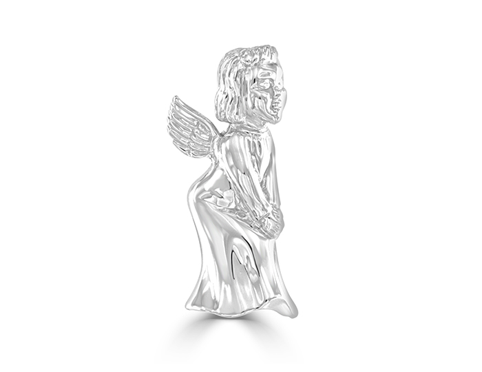 Angel brooch in 18k white gold.