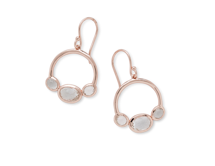 IPPOLITA Rose Earrings in Clear Quartz.