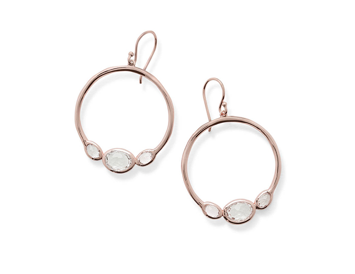 IPPOLITA Rose Rock Candy Earrings in Clear Quartz.