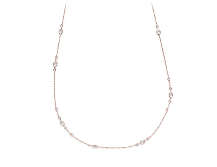 IPPOLITA Rose Rock Candy Necklace in Clear Quartz.