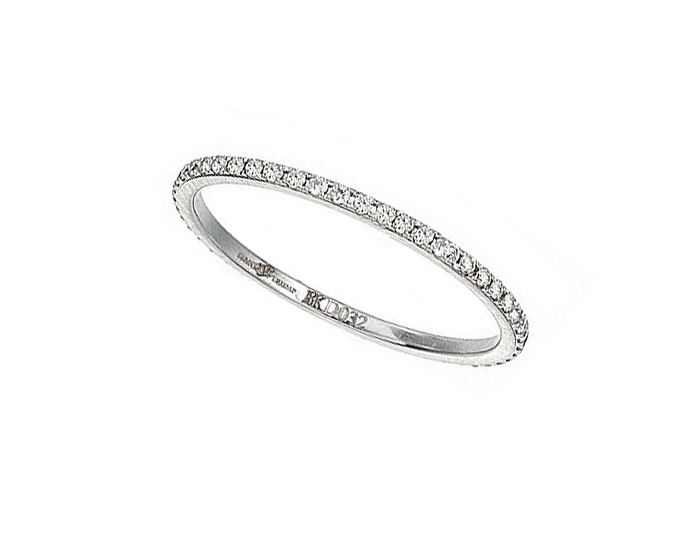 Ivanka Trump Black and White Collection round brilliant cut diamond band in 18k white gold.