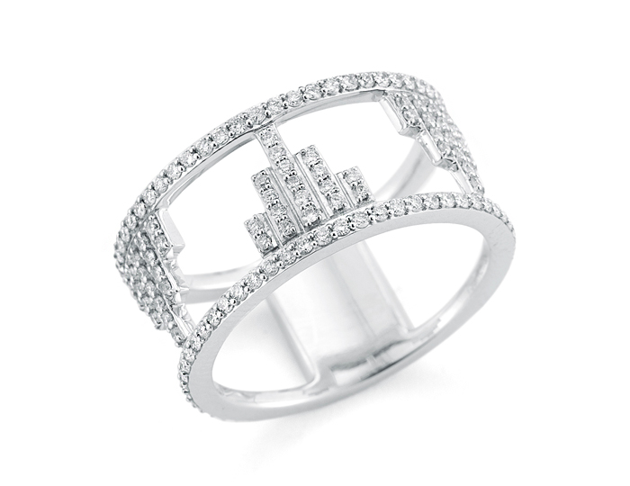 Ivanka Trump Empire Collection diamond ring in 18k white gold.