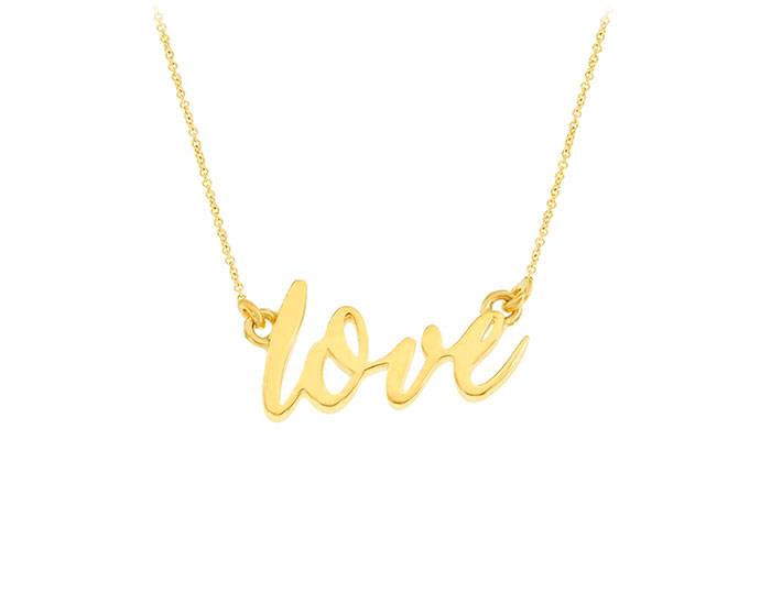 Love necklace in 18k yellow gold.