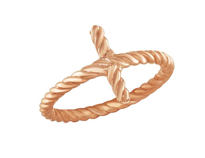 Cross ring in 18k rose gold.