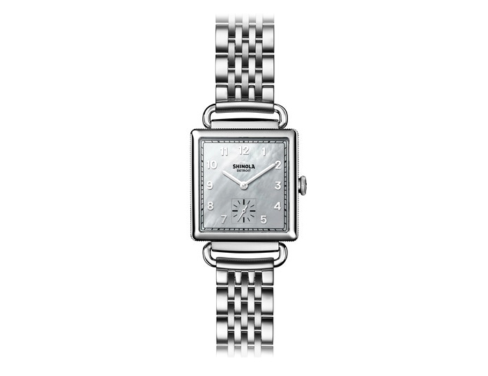Shinola Cass 28mm stainless steel bracelet watch.