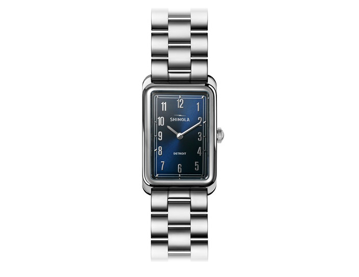 Shinola Muldowney 24x32mm stainless steel bracelet watch.