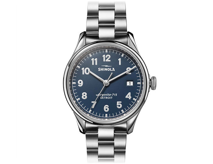 Shinola Vinton 38mm stainless steel bracelet watch.