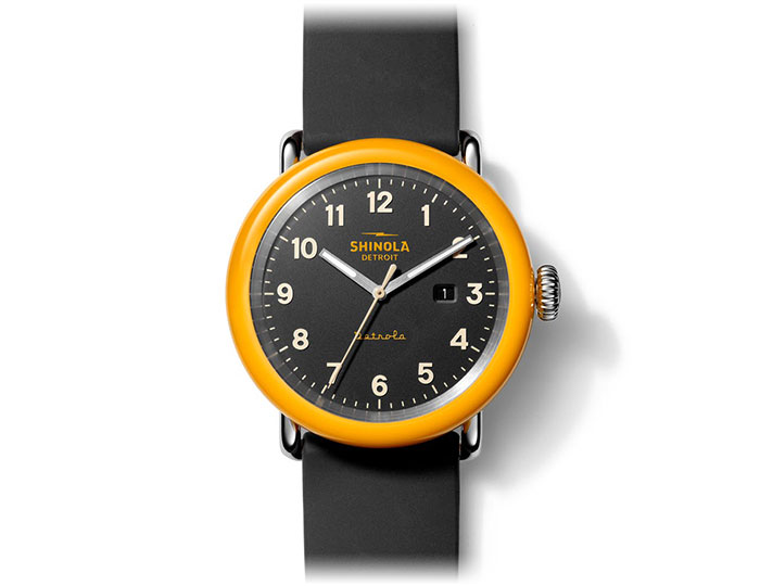 Shinola Detrola The No. 2 43mm rubber strap watch.
