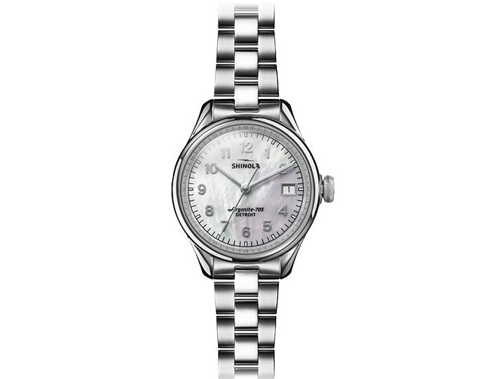 Shinola Vinton 32mm stainless steel bracelet watch.