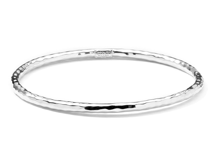 IPPOLITA Sterling Silver #1 Hammered Bangle.