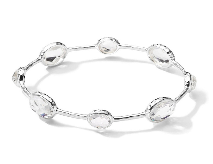 IPPOLITA Rock Candy Sterling Silver 8-Stone Bangle.