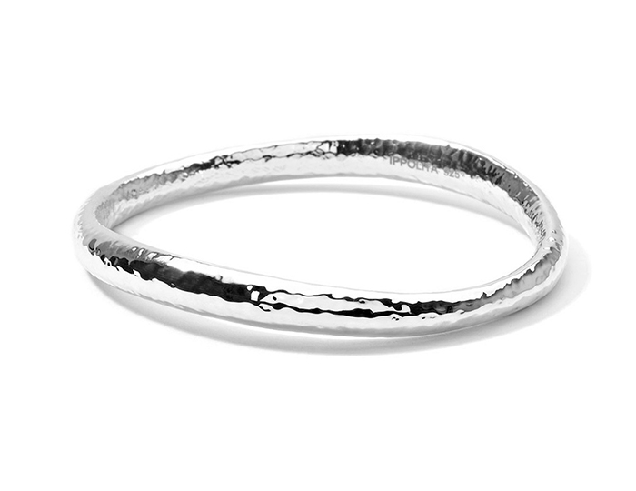 IPPOLITA Sterling Silver Glamazon Skinny Sculpted Bangle.