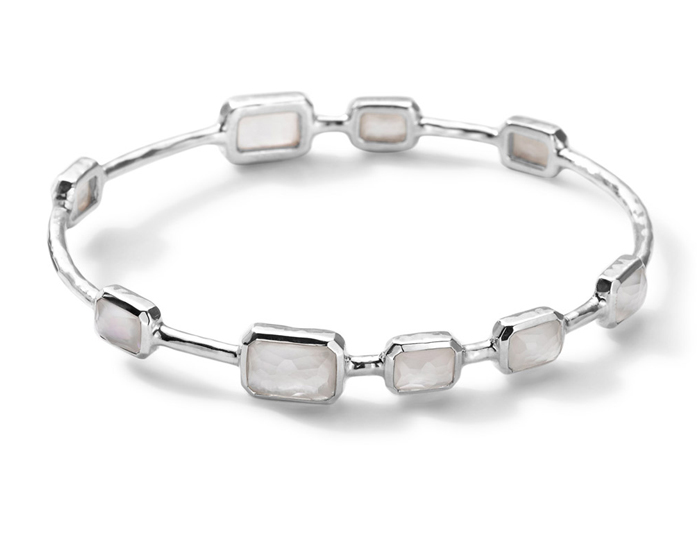 IPPOLITA Sterling Silver Rock Candy 9-Stone Bangle in Mother-of-Pearl Doublet.