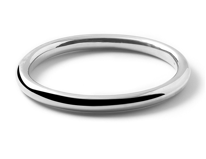 IPPOLITA Sterling Silver Glamazon Thick Oval Bangle.