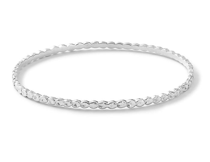 IPPOLITA Sterling Silver Lollipop Thick Textured Bangle.
