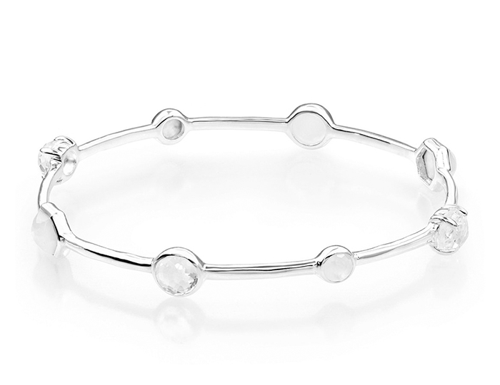 IPPOLITA Sterling Silver Rock Candy Mixed Stone and Metal Bangle in Flirt.