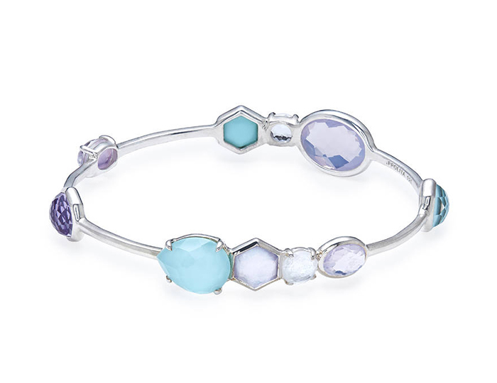 IPPOLITA Sterling Silver Rock Candy Mixed Stone and Metal Bangle.