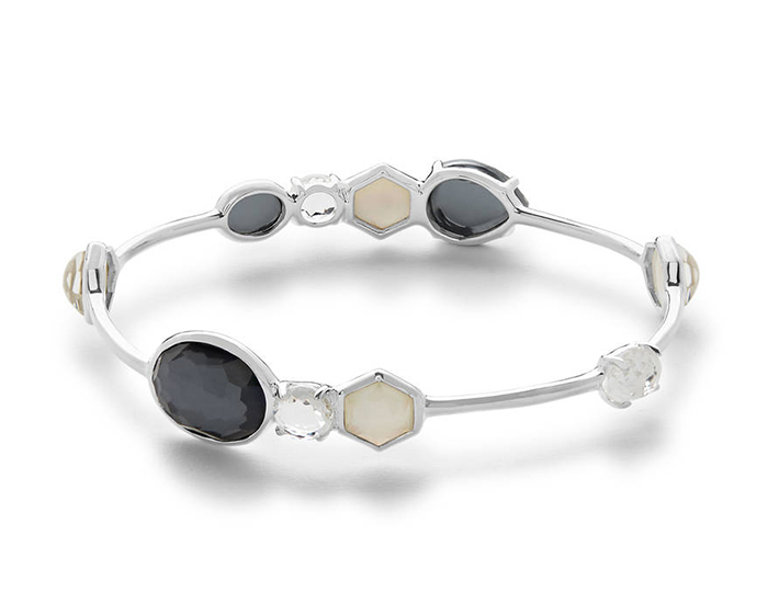 IPPOLITA Sterling Silver Rock Candy Mixed Stone and Metal Bangle in Piazza.