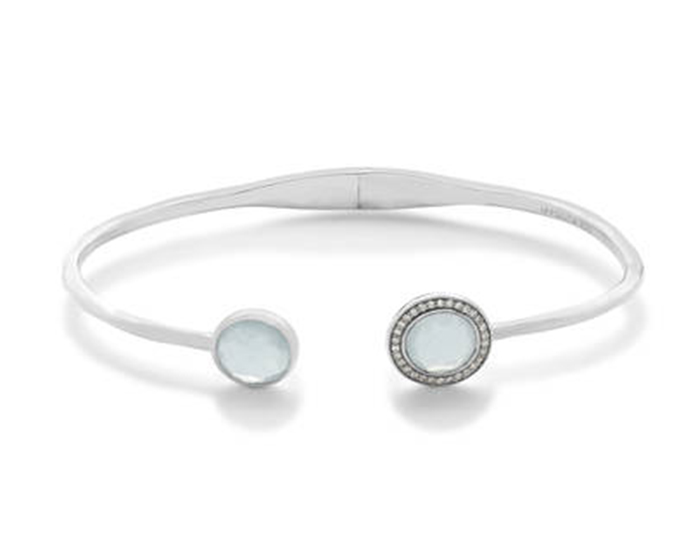 IPPOLITA Lollipop Sterling Silver Bracelet with Blue Topaz and Moonstone.