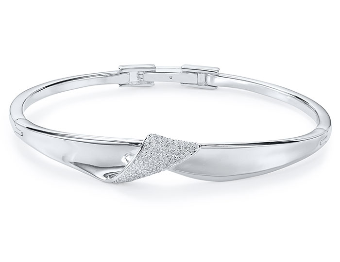 Ippolita Stardust Collection round brilliant cut diamond bracelet in sterling silver.