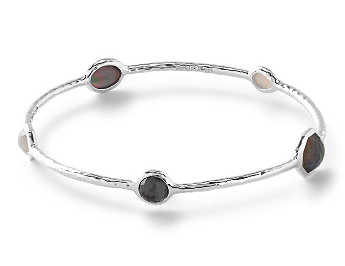 IPPOLITA Sterling Silver Bangle in Black Tie.