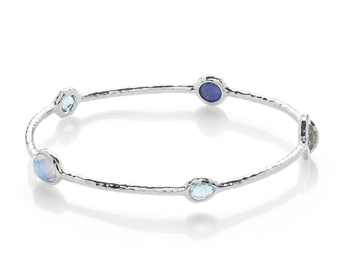 IPPOLITA Sterling Silver Rock Candy 5-Stone Bangle in Eclipse