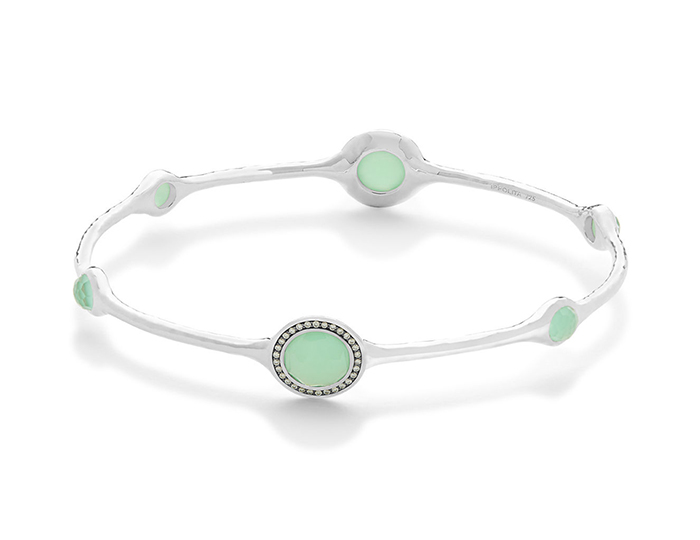 6a39ca625b3 IPPOLITA Lollipop Sterling Silver Bangle with Clear Quartz, Chrysoprase and  Round Brilliant Cut Diamonds.