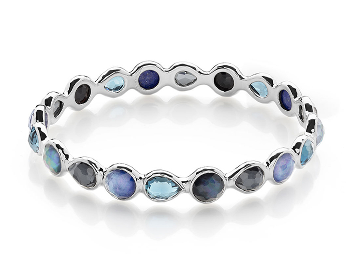 IPPOLITA Sterling Silver Rock Candy All Around Bangle in Eclipse.