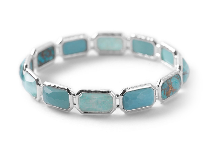IPPOLITA Sterling Silver Rock Candy All Brick Bangle in Turqam.