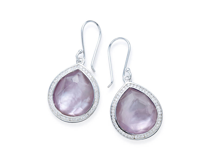 IPPOLITA Lollipop Sterling Silver Earrings in Amethyst and Diamond.