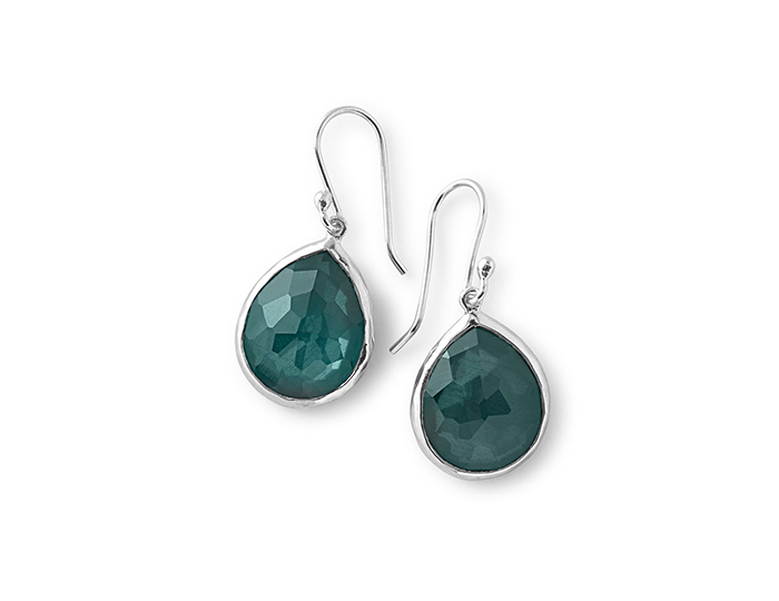 IPPOLITA Sterling Silver Wonderland Mini Teardrop Earrings in Kelly.