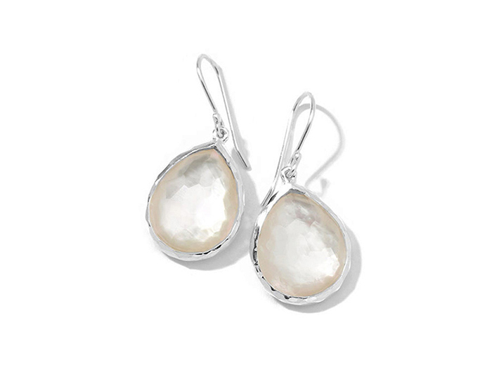 IPPOLITA Sterling Silver Wonderland Mini Teardrop Earrings in Mother-of-Pearl Doublet.