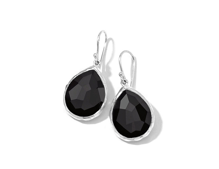 IPPOLITA Sterling Silver Rock Candy Teardrop Earrings in Onyx.