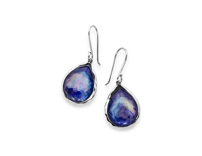 IPPOLITA Sterling Silver Rock Candy Teardrop Earrings in Lapis Doublet.