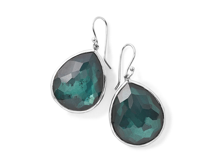 IPPOLITA Sterling Silver Wonderland Large Teardrop Earrings in Kelly Doublet.
