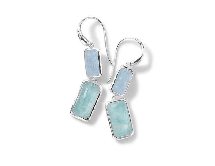 IPPOLITA Sterling Silver Rock Candy 2-Stone Drop Earring in Light Blue.