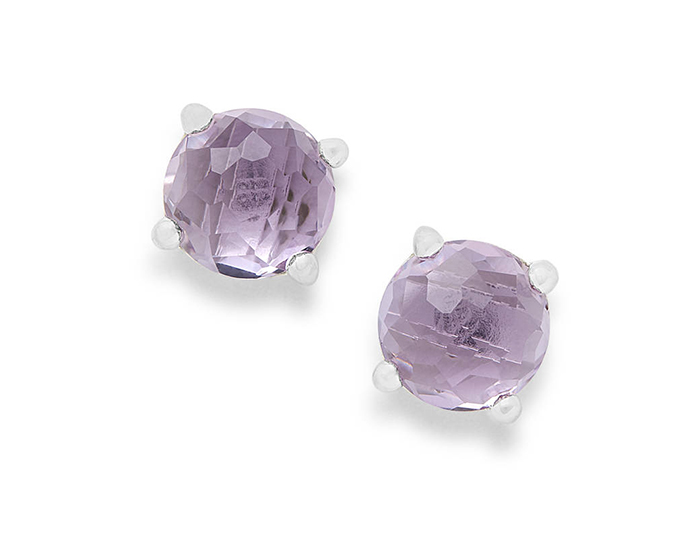 IPPOLITA Sterling Silver Rock Candy Stud Earrings in Amethyst.
