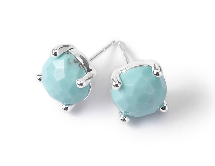 IPPOLITA Sterling Silver Rock Candy Mini Stud in Turquoise.