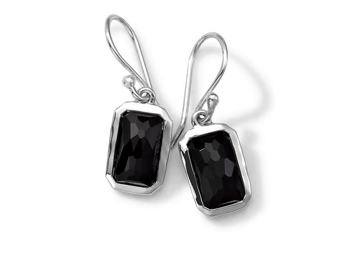 IPPOLITA Sterling Silver Rock Candy Small Stone Drop Earrings in Onyx.