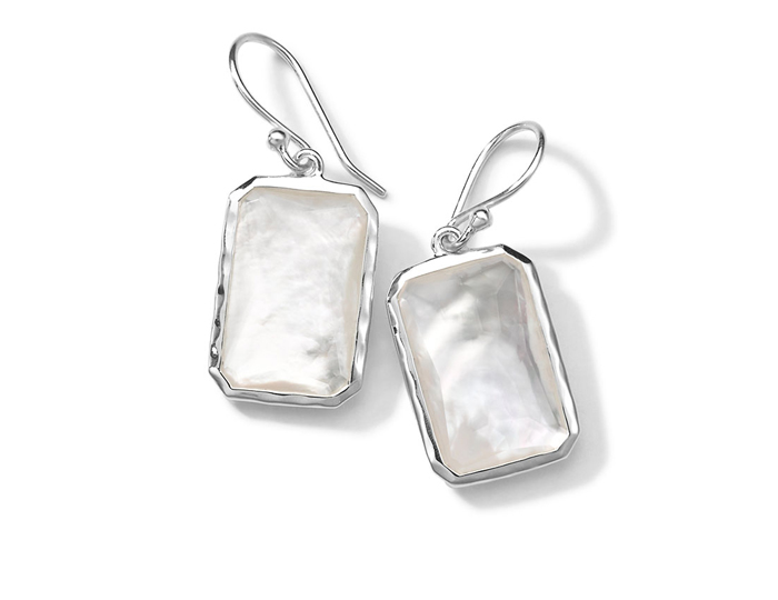 IPPOLITA Sterling Silver Rock Candy Large Stone Drop Earrings in Mother-of-Pearl Doublet.