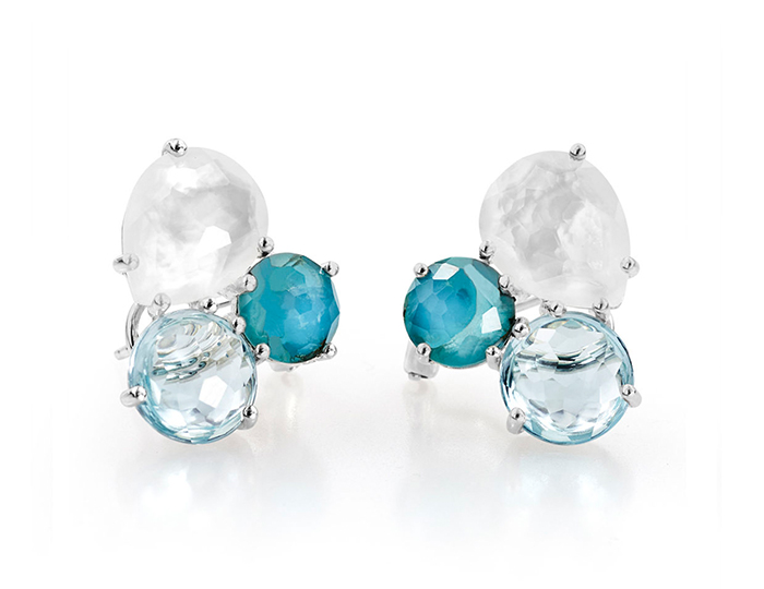 IPPOLITA Sterling Silver Rock Candy Cluster Stud Earrings in Harmony.