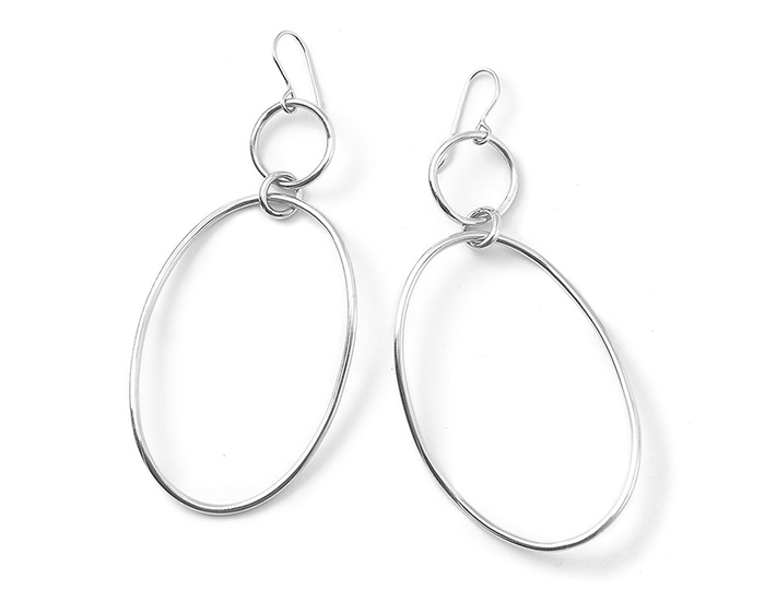 IPPOLITA Sterling Silver Glamazon Wavy Snowman Earrings.